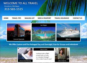 All Travel Web Site Sample